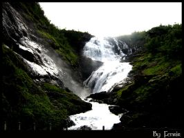 Kjosfossen waterfall by fenrir-bassist