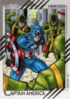 Captain America - 2015 Marvel Fleer Retro by tonyperna