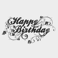Free Vector of the Day #196: Happy Birthday Type by cristina012