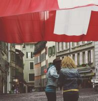 under the flag by Blurry-Photography