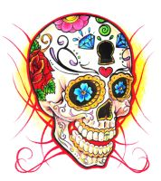 Sugar Skull by clicketyclock