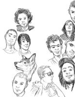 Face sketches 5 by 20handstall
