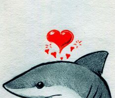 Heart Shark by RobtheDoodler