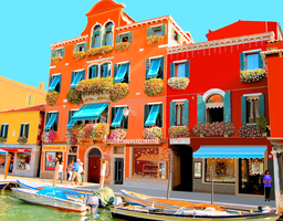 Murano Canal Shops by JJPoatree