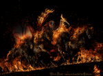 Black Death - coming out from hell by Lhianne