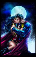 Color Battle 23 Superman and Wonder Woman by Frozen-song