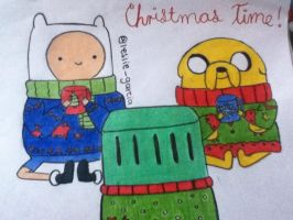 Christmas Time with Finn and Jake by Whiskers-the-Cat