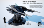RE-23 Stinger Light Railgun Emplacement (FULL HD) by Universe-of-Dusk