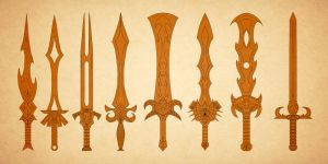 Swords (cleaned up a bit) by Chachava