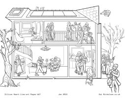 Silicon Heart Pages 6/7 Lineart by Kat-Nicholson