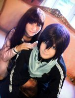 The half-phantom and the Yatogami by PandoraiCosplay
