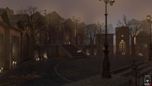 Gothic Cemetery Kit Square by PixelMonger75