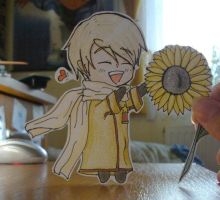 Russia-kun get a sunflower by jolica