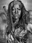 Michonne Final by corysmithart