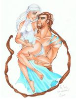 Daenerys and Khal Drogo by Pandablubb
