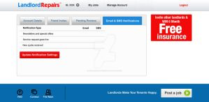 Landlordrepairs Settings Email by syntaxsolutions