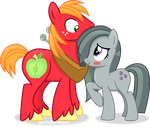 Big Mac and Marble Pie by Vector-Brony