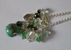 Green chain necklace by MadDani