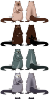 Otterbear Adoptables 3 - CLOSED by Karijn-s-Basement