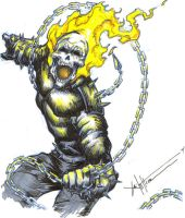 Ghost rider 4 color by ChrisOzFulton