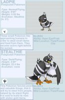 Ladpie and Stealthie fakemon by byona