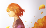 Looking at the golden flowers by TDoha