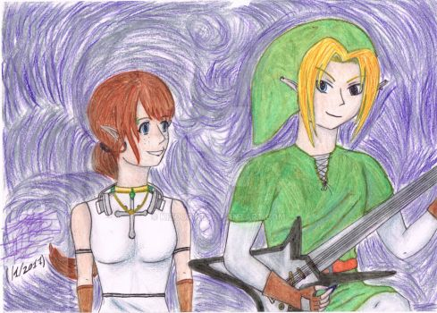 Anissa and Link version 2 by RSNVaine