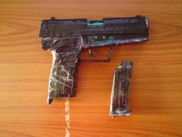 homemade USP 45 pistol 2 by SomethingWild7