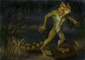 June: The Lizardman by pyro-helfier