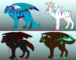 Free Wolf Adoptables - CLOSED by LotusKoi