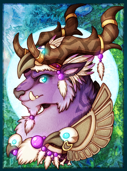 NuruDruid Giveaway Colour Sketch Bust by ZulterithCreations