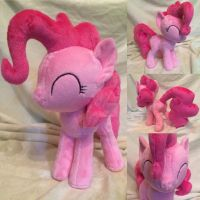 Pinkie Pie plush (commission) by Zombies8MyWaffle