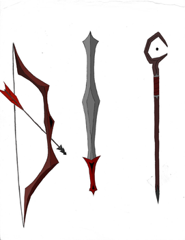 Dark Weapons by Iklaendia