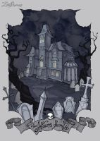 The Addams Family Mansion by IrenHorrors