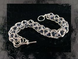 Swarovsk ChainMaille Tanzanite by AngelElementsEtsy