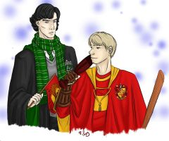 -:.Good Luck.:- Sherlock+HP by Youko-Sway