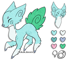 Leaflet Auction: CLOSED by Alex-Adopts