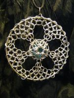chainmail sun catcher by BacktoEarthCreations