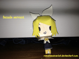 EC Papercraft - Female Servant by RemiFlanScarlet