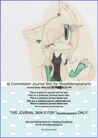 Commission Journal Skin for ShayNdempoptarts by BrightenYourSmile