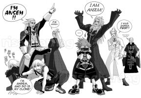 KH2: Too many Ansems by Risachantag