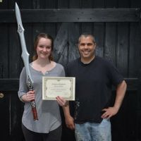 Izzy after completing our June Training Course by Artyfakes