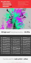 30 Low-Poly / Polygonal Photoshop Brushes by RoundedHexagon