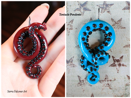 Polymer Clay Tentacle Pendents by XxSierraRose