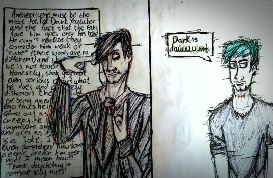 Why Dark and Anti hate each other by Electra-Fab-Cap