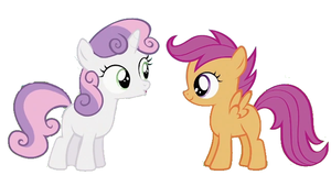 Sweetie Belle and Scootaloo by cadpig1099