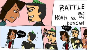 Duncan and Noah's Feud by ickybickyboo