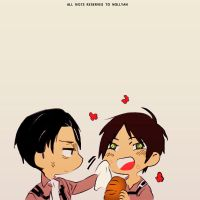 levi and eren - attack on titan by Nollyan