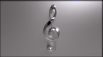 Treble Clef Elegant Wallpaper by TheBigDaveC