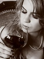 Lady and Wine by Crispey